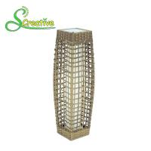 Beautiful Decorative Rattan Solar Garden Lights Eco Friendly Energy Efficient Manufactures