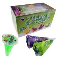 China Ice Cream Shape Fruit Jelly Candy Assorted Fruits Jam Candies Multicolored on sale