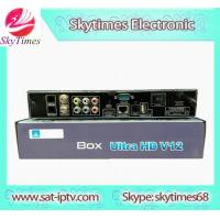 China Jynxbox ULTRA HD V12 FTA digital satellite receiver support cccamd and newcamd sharing iks receiver on sale