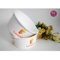 Buy cheap 12 Ounce Shallow Ice Cream Paper Bowls With Plastic Lid / Custom Print from wholesalers