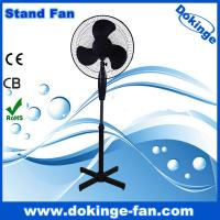 China factory sales 40cm cheap price electric fan ,40w 16 inch black stand fan with light on sale