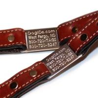 Genuine leather Large Dog Collars 2C GCDC-012 Manufactures