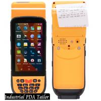 Industrial Phone Pos Terminal Android Barcode Scanners And Handheld Thermal Printer In One Manufactures