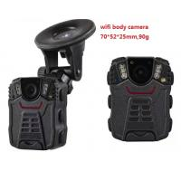 Portable WIFI Police Worn Cameras Waterproof IP66 With 2 Inch Screen Manufactures