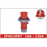 China Red 4 Pin 3H Industrial Plugs And Connectors for Reefer Container on sale