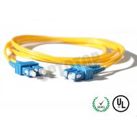 China 2.5m Single Mode Fiber Optic Patch Cord 2mm For LANs / Telecom , REACH Listed SC on sale