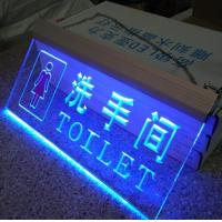 Blue Light Clear Acrylic Led Display / Plexiglass Led Sign In Passage Manufactures