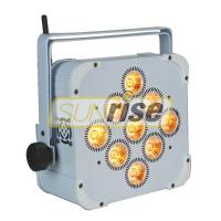 China Rechargeable Wireless LED Par Lights 9x18W LED 6in1 AC110-250V 50Hz/60Hz on sale