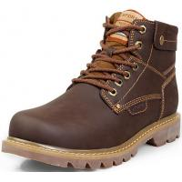 Men Genuine Leather High Top Lace Up Casual Boots Manufactures