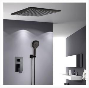 Contemporary Shower Wall Faucet Black Matte Single Handle Under Water Faucet 20.5cm