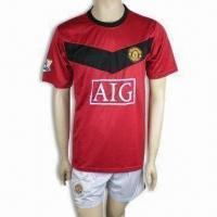 China 100% Polyester Soccer/Football Jersey/Sports Wear, Customized Designs are Accepted on sale