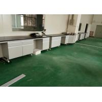 Wood Laboratory Working Table / Wall Bench For Chemical Factory Manufactures