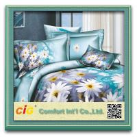 Shrink Water 100% Cotton  3D Bed Sheet Set For Printing Bedding Sheets Manufactures