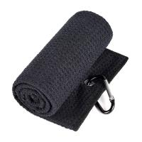 China Multi Purpose Waffle Microfiber Towel Absorption With Carabiner Clip on sale