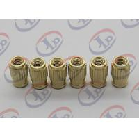 China Small Machine Parts Plastic Insert Parts Brass Nuts With Blind Via Hole on sale