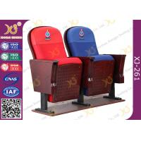 Buy cheap East African Vintage Auditorium Church Hall Chairs With Embroidered Logo On Back from wholesalers