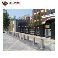 Buy cheap Security road traffic retractable auto rising electronic bollard system for police, government building, prison from wholesalers