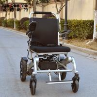 Light Weight Aluminum Alloy Electric Folding Wheelchair For Travelling Manufactures