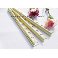 Curved Shine Gold Aluminium Tile Edge Trim 10mm x 2.44m / 2.5m / 2.6m Manufactures