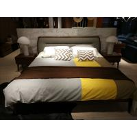 Quality 2017 New design of  Doube / King bed Interior Fitment for Apartment Furniture by Walnut wood from China factory for sale