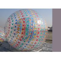 China Colour Dot Inflatable Zorb Ball Human Hamster Rolling ball With colorful D-ring on sale