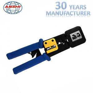 8P6P Network Punch Down Tool Modular Crimping Plier EZ RJ45 SGS Certification