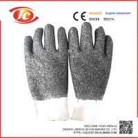 working safety  PVC gloves with chips on palm and fingers Manufactures