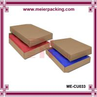 China Brown kraft paper swimwear box/Corrugated plain garmant paper box ME-CU033 on sale