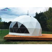6m Waterproof Camping Geo Dome Tent With Transparent PVC / Inflatable Manufactures