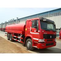 6 x 4  Driving 260HP Fuel Tanker Trucks With Carbon Steel Tank Manufactures
