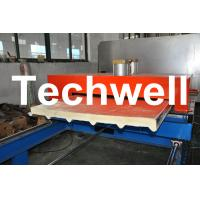 PU Insulated Cold Roll Forming Machine For Making Sandwich Panels Manufactures