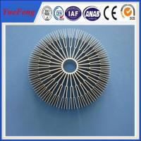 Aluminum alloys round 6082/ OEM sunflower heat sink,round aluminum extrusion heatsink Manufactures