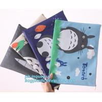 Stationery A4 Paper Waterproof Office Zipper File Bag, Office Stationery Bright Colors OEM File Bag Pocket Clear PVC Bag Manufactures