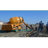 China Mobile Hydraulic Concrete Mixer Machine , Cement Mixer Vehicle 20 Circles Per Min on sale