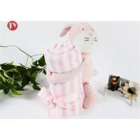 china factory wholesale OEM lovely baby Microfibre Coral Fleece animal blanket with Toys Manufactures