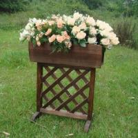 Wooden Flower Pot, Measuring 46 x 25 x 54cm, Customized Designs, Sizes and Shapes Available Manufactures