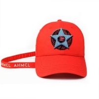 ACE Headwear new arrival design red 6panel 3d Embroidery Star baseball caps hats Manufactures