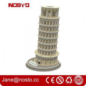 3d puzzle famous buildings , 3D puzzle souvenir leaning tower of pisa Manufactures