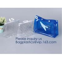 Toiletry Bag with Zipper TSA Approved Travel Cosmetic Bag PVC Make-up Pouch