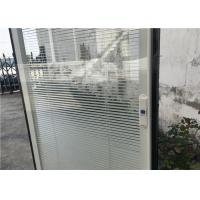 Horizontal Pattern Blinds Between Glass , Aluminium Blinds For Door Window Manufactures