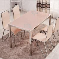 Multi Functional Glass Top Dining Room Table , Practical Marble Dining Table Manufactures