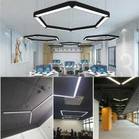 Aluminum 15W 20W Linear Led Lighting Suspended Office LED Linear Pendant Lighting Manufactures