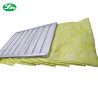 China Medium Pocket Air Filter , Washable F8 Air Bag Filter Hvac Duct Cleaning on sale
