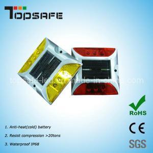 Solar 6PCS LED Aluminium Cat Eye Reflective Road Stud (TP-SR-6) Manufactures