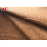 China Foil Bronzed Warp Knit Micro Suede Polyester Fabric Faux Suede For Shoes on sale