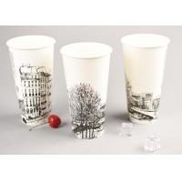 500ml Ice Cream Disposable Cups With Straw , Take Out Coffee Cups OEM ODM Manufactures