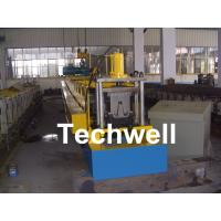 PLC Frequency Control Steel Hat Channel Cold Roll Forming Machine With 0-15m/min Forming Speed Manufactures
