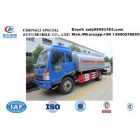 Good quality China FAW 6 wheel 10000 liters crude oil truck for sale, Wholesale FAW brand 4*2 LHD fuel tank truck Manufactures