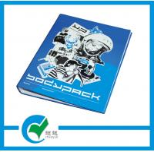 OEM Gloss Lamination Personalized Blue 4 Ring Binder Cardboard Binder File Folder Manufactures