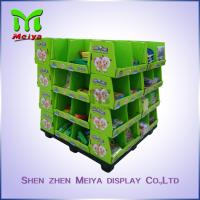 OEM Ponit Of Purchase Cardboard Pallet Display For School Stationery , 4 Sides Printed Manufactures